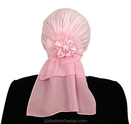 Spanish Flower HijabiCap Premade Hijab - Pink