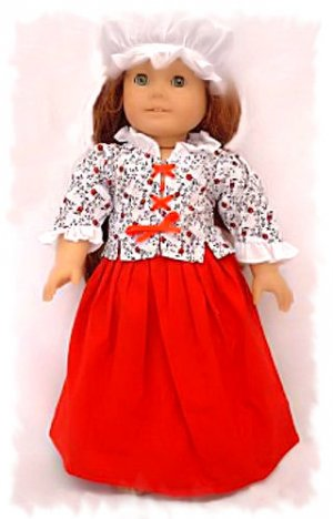 Colonial Dress for 18 inch Doll