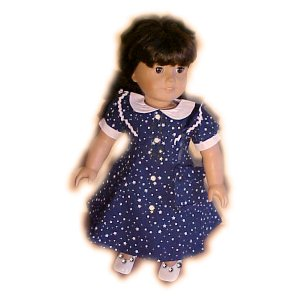 Blue Star 40s Dress for 18 inch Doll
