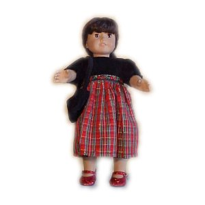 Red Plaid Dress for 18 inch Doll