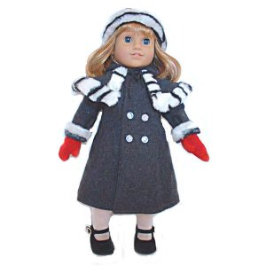 Gray Coat for 18 inch Doll