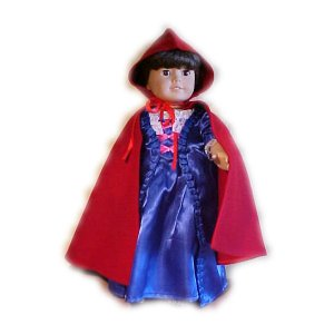 Red Cape for 18 inch Doll