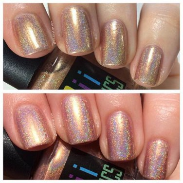 Keep calm i'm a princess   holographic nail polish - boiicosmetics