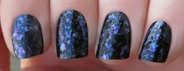 blue flakie  Glitter Polish - Boii Nail polish