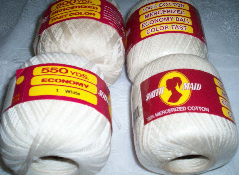 South Maid Crochet yarn white