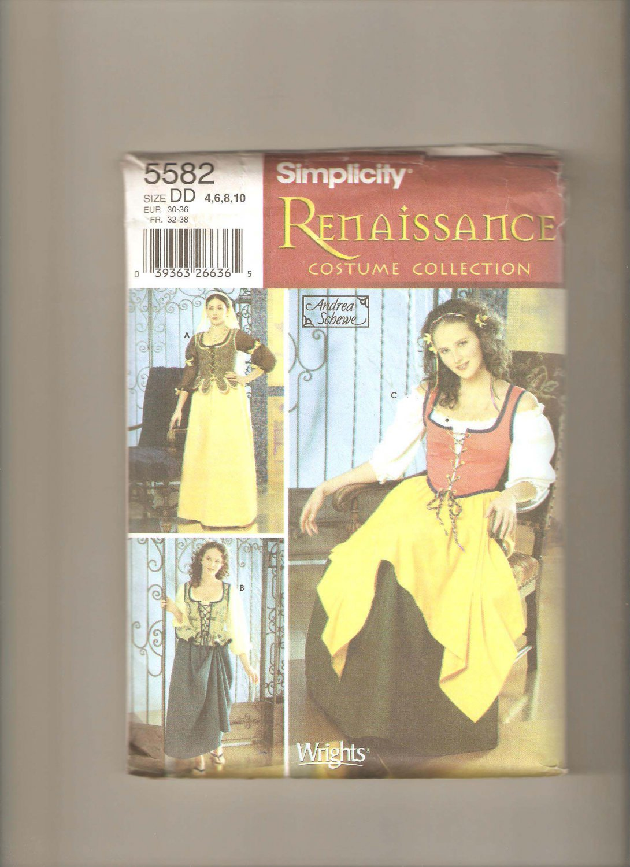 Simplicity Renaissance Costume  5582