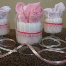 12 Diaper Washcloth Favors for Baby Shower/Girl