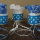 12 Diaper Washcloth Favors for Baby Shower/Boy
