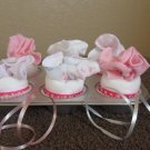 Diaper Washcloth Baby Shower Gift/Centerpiece/Girl