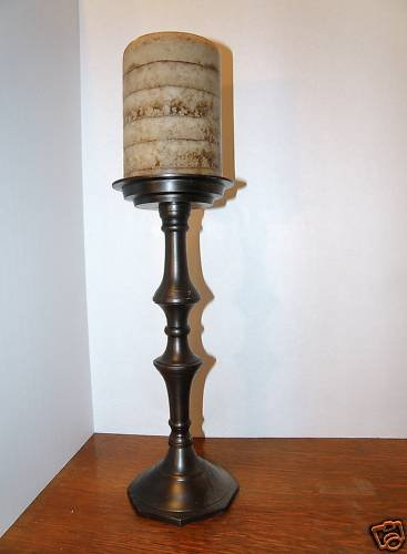 Pillar Candle Stand with Candle