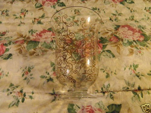 Contemporary Glass Vase with Gold Design
