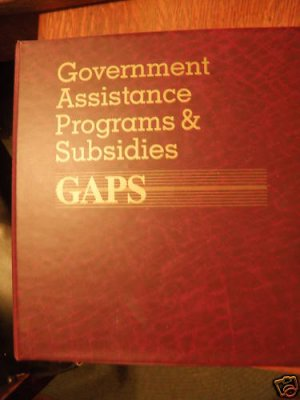 Government Assistance Programs & Subsidies (GAPS) Book