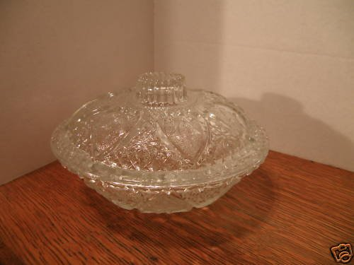 Clear Glass Candy Dish