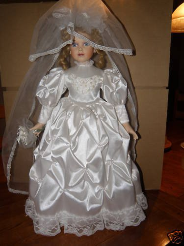 Porcelain Bridal Doll - Very Beautiful-Amazing Detail