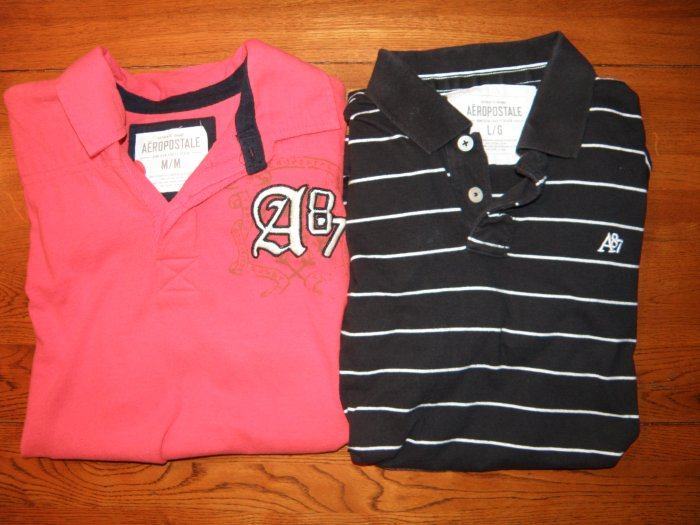 Aeropostale Polo Shirts-Set of 2-Used-SZ M & L