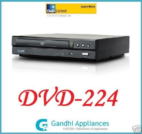 New Coby All Multi Region Code Zone Free DVD Player SEE