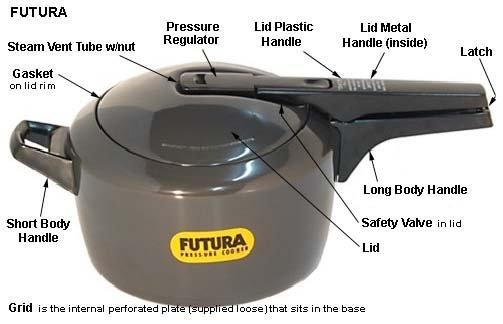 NEW Hawkins Futura 5 Liter Anodized Pressure Cooker 5L