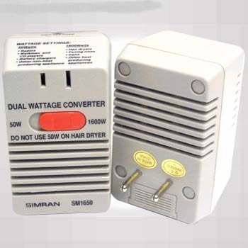 50/1600 WATT TRAVEL VOLTAGE CONVERTER STEP DOWN 220V $$
