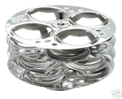 BRAND NEW IDLI STAND 5 RACKS (20 IDLIS) STAINLESS STEEL