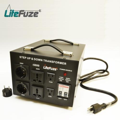 5000 WATT VOLTAGE TRANSFORMER CONVERTER 110/220/240 V