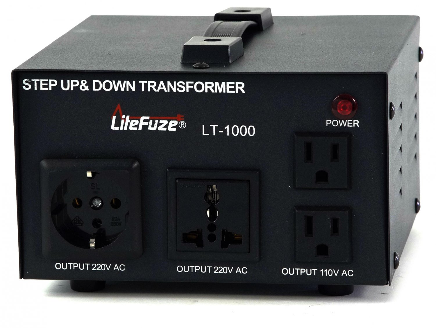 LITEFUZE 1000W HEAVY DUTY VOLTAGE CONVERTER TRANSFORMER