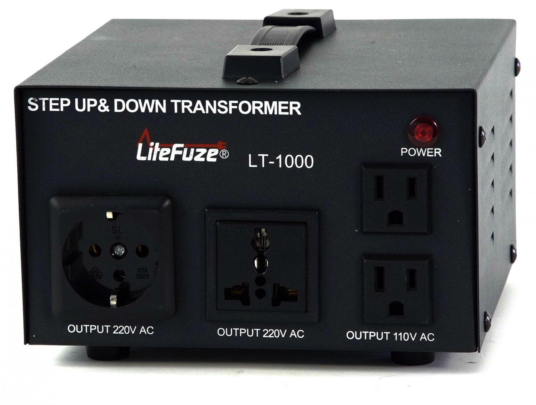NEW LiteFuze 1000 Watt Transformer Step Up/Down 110-220