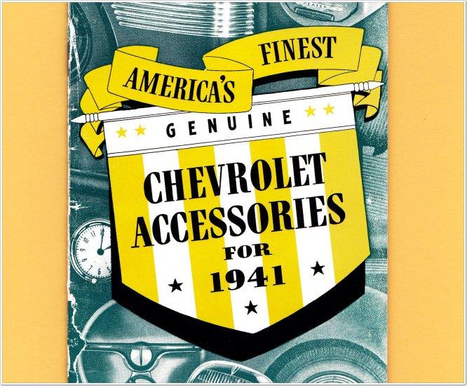 1941 Chevrolet Accessories Booklet