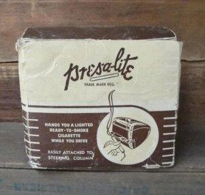 PRES-A-LITE, 1930s-1940s, Original Box, Clamp, Cigarette Lighter Adapter, WORKS