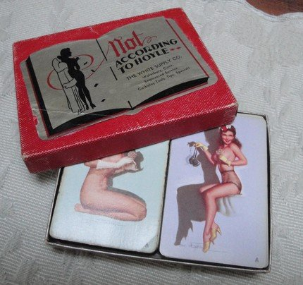 NOT ACCORDING TO HOYLE, Double Pin-up Card Set, EARL MACPHERSON, 1946