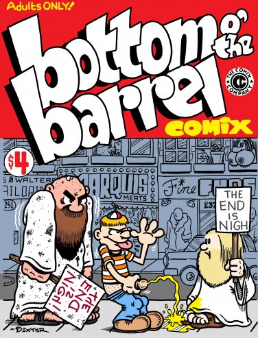 BOTTOM OF THE BARREL COMIX - Dexter Cockburn Underground Comix
