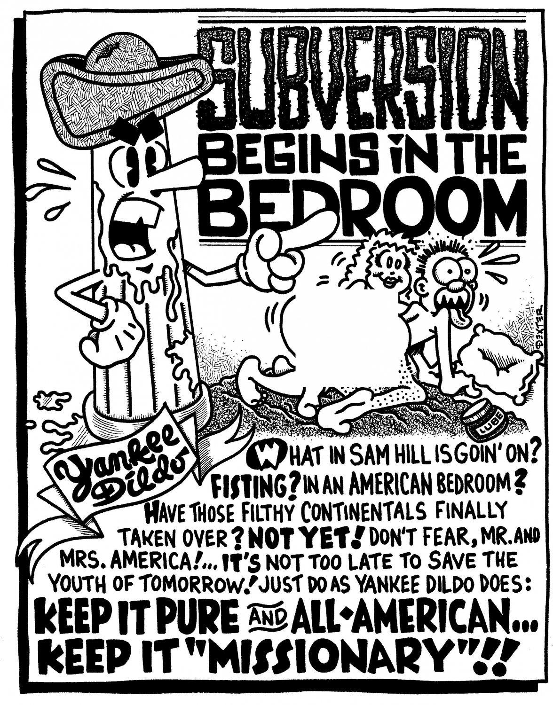 SUBVERSION BEGINS IN THE BEDROOM - Original Art Dexter Cockburn