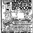 SUBVERSION BEGINS IN THE BEDROOM - Original Art Dexter Cockburn