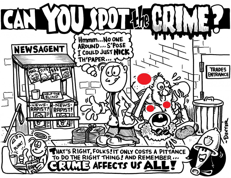 SPOT THE CRIME - Original Art Dexter Cockburn