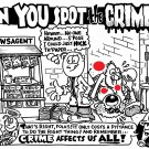 SPOT THE CRIME - Original Art Dexter Cockburn