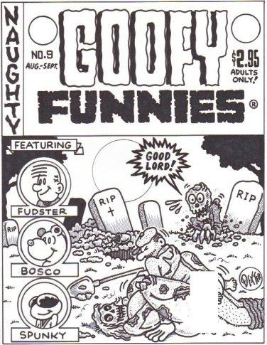 GOOFY FUNNIES #9 COVER ART - Dexter Cockburn Underground Comix
