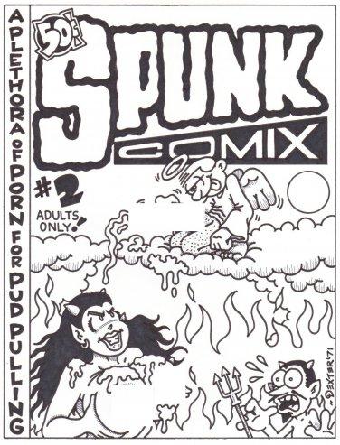 SPUNK COMIX #2 COVER ART - Dexter Cockburn Underground Comix