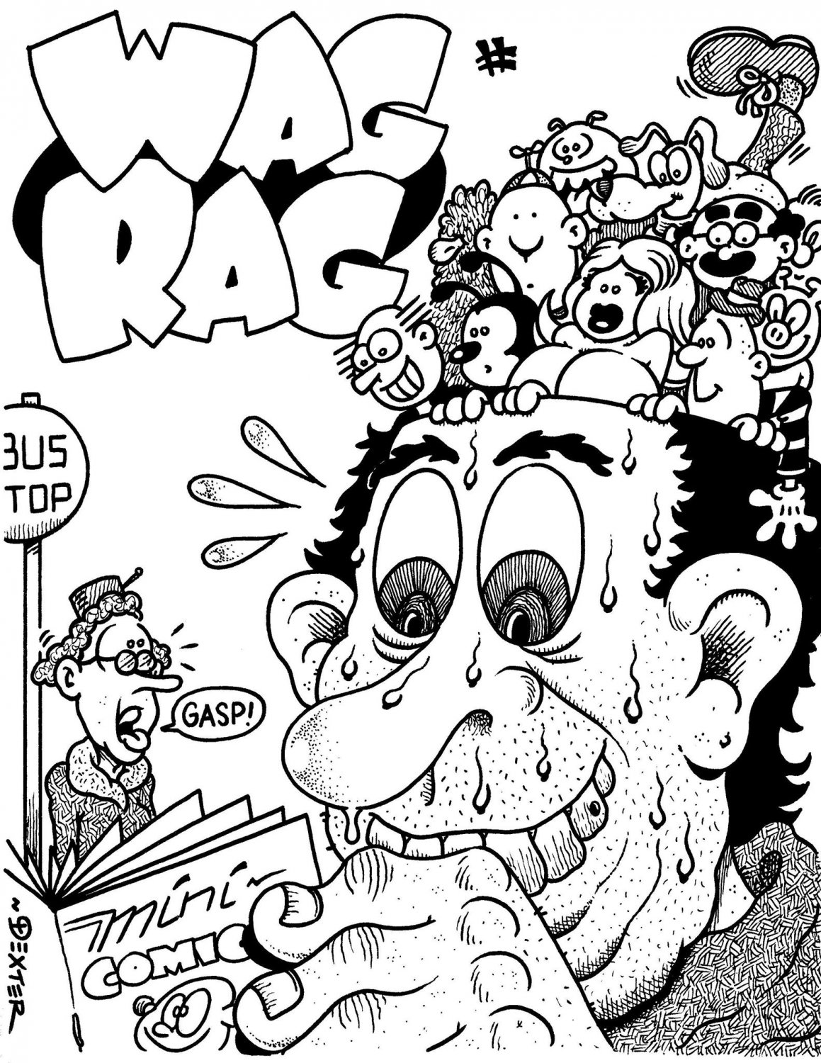 WAG RAG ORIGINAL COVER ART - Dexter Cockburn Original Art