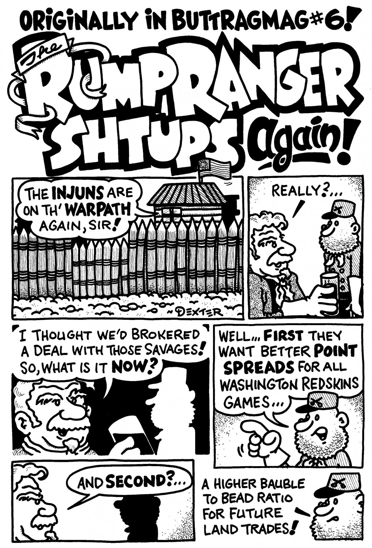 RUMP RANGER SHTUPS AGAIN 4-PAGER - Dexter Cockburn Original Art