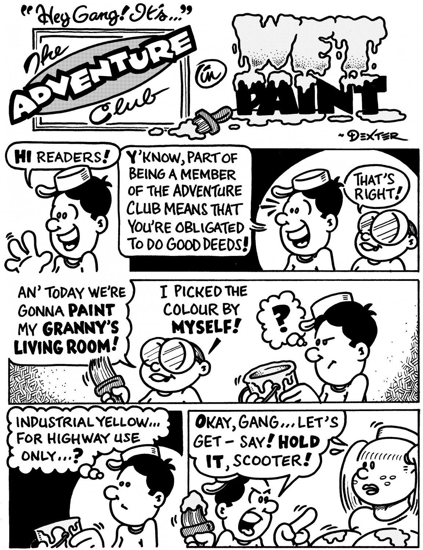 ADVENTURE CLUB WET PAINT 8-PAGER - Dexter Cockburn Original Art