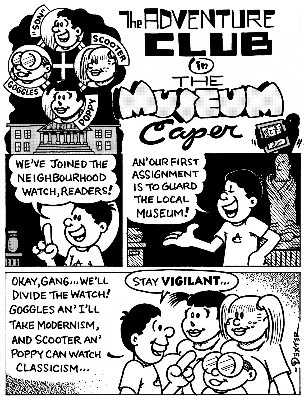 ADVENTURE CLUB MUSEUM CAPER 9-PAGER - Dexter Cockburn Original Art