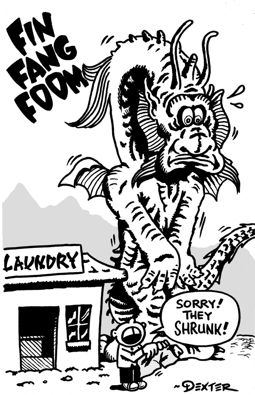 FIN FANG FOOM PARODY ART - Dexter Cockburn Original Art