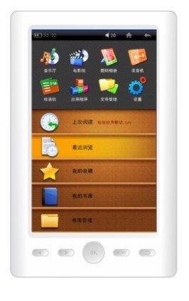 New 5� HD 1080p Digital Touch Screen 4GB Ebook Reader