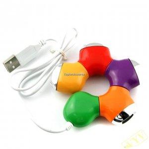 Flower 4Ports USB Hub USB Accessory
