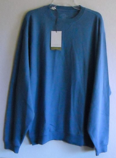New mens 100% cotton Cutter & Buck blue sweater pullover size XL / TG