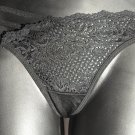 Misses Black Stretch Lace Thong G-string 3 pairs