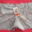 Silver Openwork Lace Boyshorts Intimates Underwear Panties Size S Lot of 3