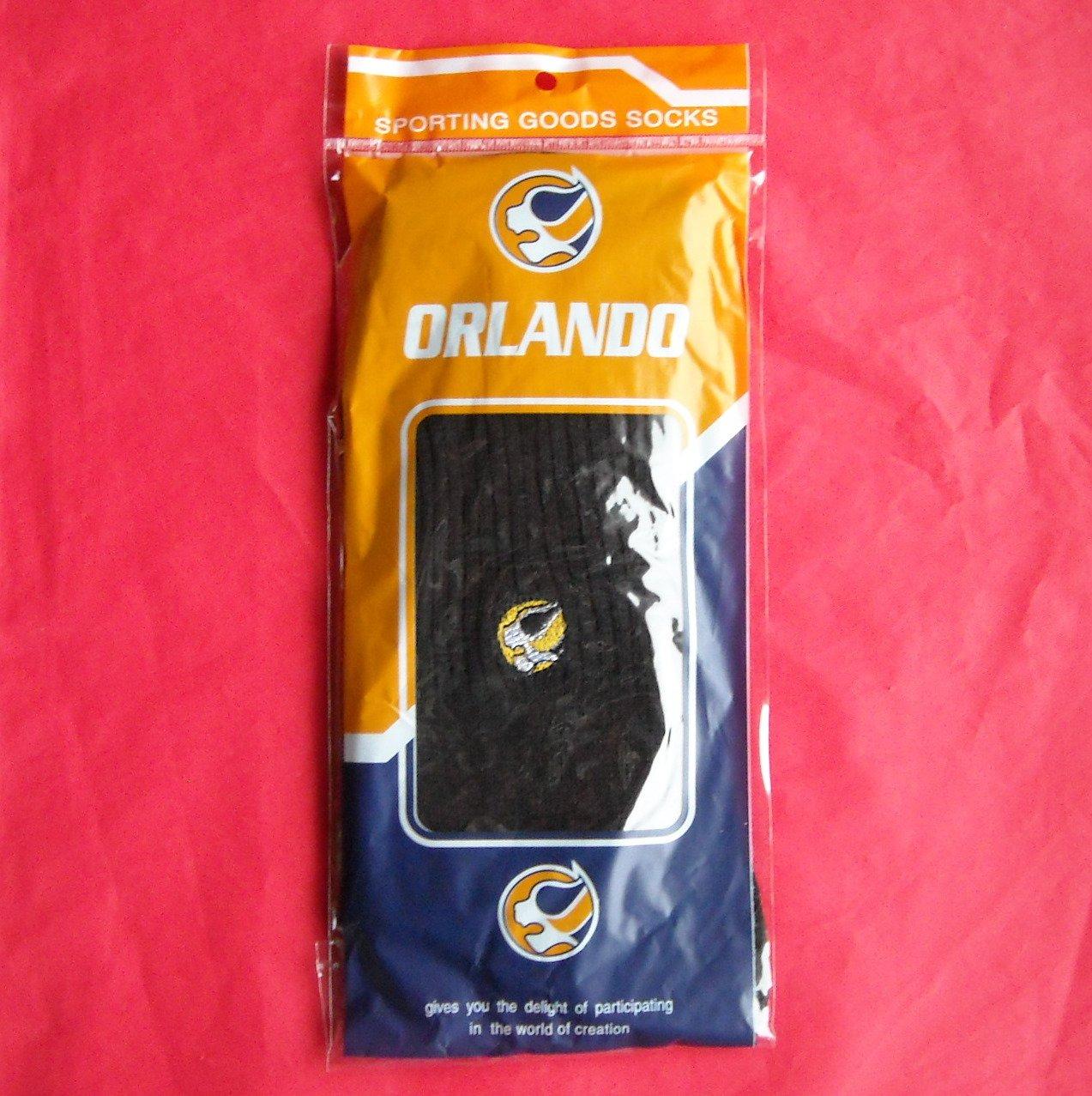 Mens black light thin Orlando sporting goods socks lot of 5
