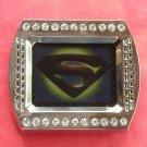 Superman Rhinestone metal belt buckle
