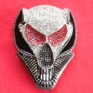 Silver color Alien Head with Rhinestone metal belt buckle