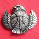 Eagle with Rhinestone Silver color metal belt buckle